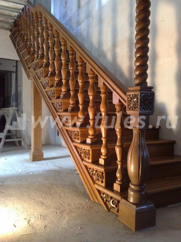 Красивая лестница из дерева - Как сделать перила для лестницы - ограждения из дерева