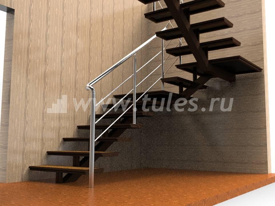 Лестница своими руками из метала на одном косоуре